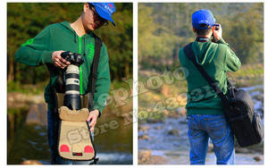 Image 2 - DSLR Camera Bag Handbag Telephoto Lens Pouch Case Waterproof Multi function Tamron 150 600 Sigma 150 600mm, Nikon 200 500mm