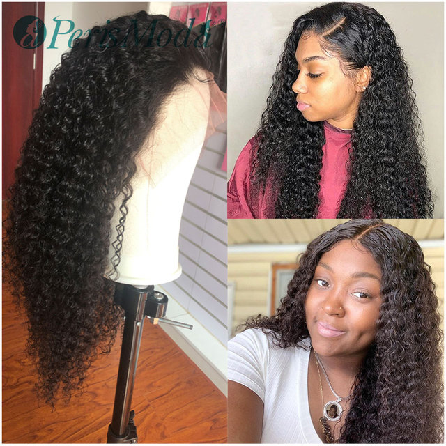 Synthetic Wigs for Black Women PerisModa Long Black Color Curly Hair Extension for Daily Use Cheap Wig Synthetic Lace Front Wigs