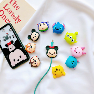 Image 3 - Wholesale Socket Car Phone Holder Cartoon Protector Cable Cord Saver Cover Coque For iPhone 8 Plus 5 5S SE 5C 6 6S 7 X Xs Max XR