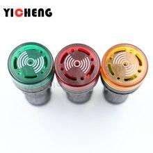 3Pcs אדום ירוק צהוב LED פלאש אזעקת מחוון מנורת פלאש זמזם DC 12V 24V AC 110V 220V 22mm AD16