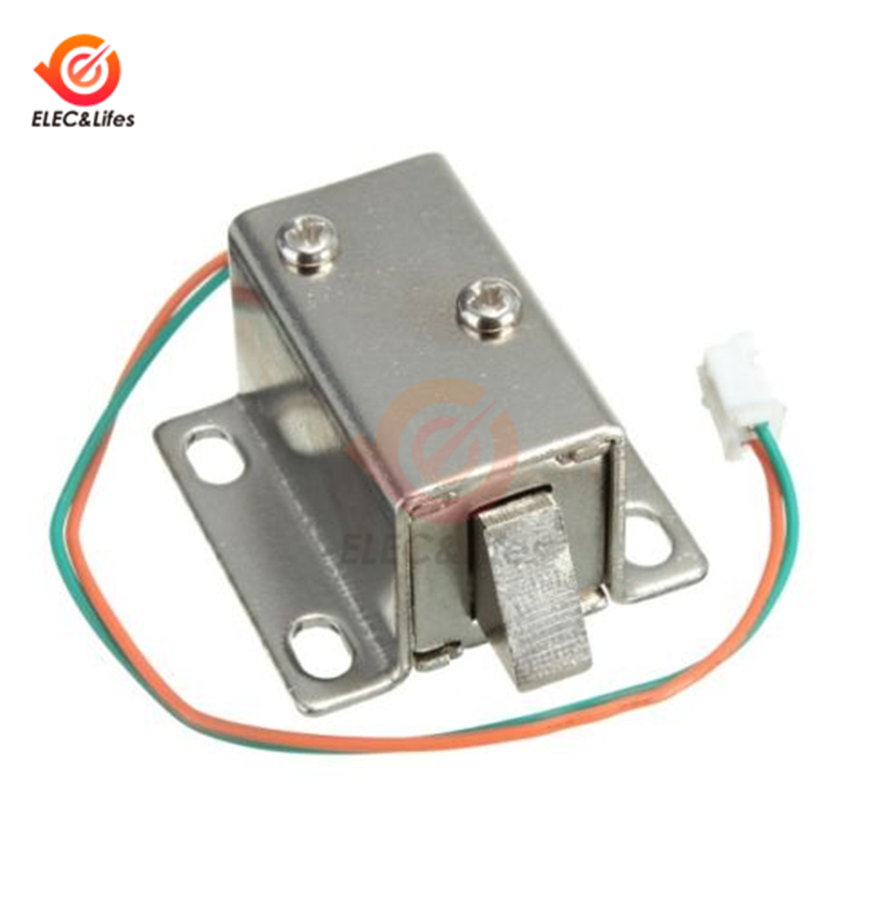 DC 12V Solenoid Valve Lock Mini Electric Lock File Cabinet Lock Storage Cabinet Lock Electric Bolt Lock Small Drawer Electronic