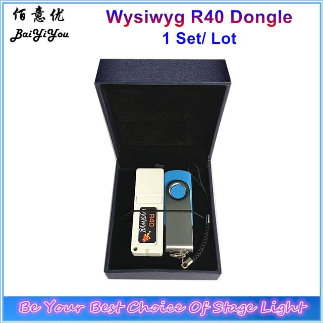 1 ensemble/lot Wysiwyg libération R40 effectuer un Dongle chiffré théâtre spectacle lieu DJ logiciel avec pilote USB et belle boîte cadeau