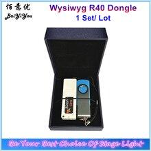 1 set/lote wysiwyg release r40 executar criptografado dongle teatro desempenho palco dj software com driver usb e caixa de presente agradável