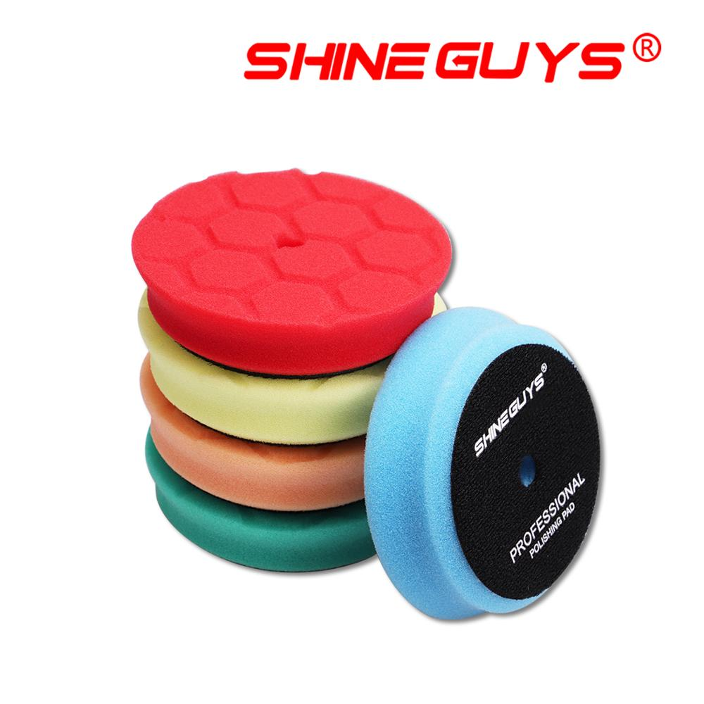 (Vendas a granel 1) brilho caras 4 Polegada (100mm) leve/médio/corte pesado almofada de polimento & almofadas de polimento para 3 Polegada (80mm) ro/da/ga polidor de carro