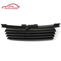 Hot New Matte Black Car Front Hood Grille Badgeless Grill For VW /Jetta /Bora MK4 1999 2004