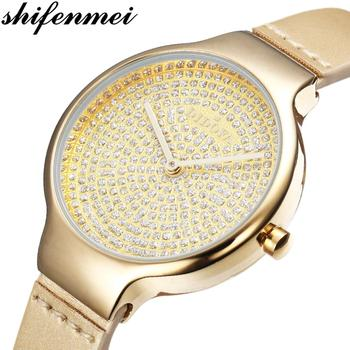Shifenmei Luxury Brand Women Watches Fashion Quartz Watch Ladies Simple Waterproof Wristwatch Gift for Girl Relogio Feminino shifenmei watches women luxury brand waterproof fashion watches quartz watch woman leather wristwatch for girl relogio feminino