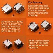 10 adet DC güç jakı konektörü Samsung RV411 RV515 RV420 RC512 RV511 RV510 RV509 RV515 R530 R540 QX510 R428 r430 NP300