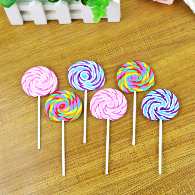 Girls Lollipop Eraser , Novelty Lollipop Rubber Eraser For School Kids 3pcs/lot