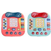 P15C Birthday Gift for Boys Girl Baby Phone Toy Car Shape Musical Telephone Toy Funny with Music, Lights, Piano, Whack-A-Mole