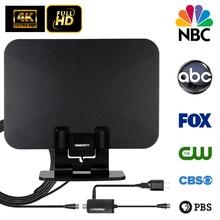 Newest HD TV antennas TA-105A Indoor Digital HD TV Antenna Amplifier UHF/VHF/1080p 4K with stand newest hd tv antennas ta 105a indoor digital hd tv antenna amplifier uhf vhf 1080p 4k with stand
