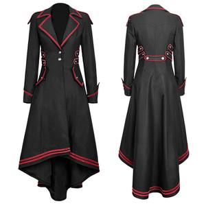 Женская длинная куртка со шлейфом, винтажная Готическая куртка со шлейфом и длинным рукавом, вечерние костюмы для Хэллоуина