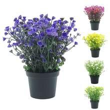 1Pc Topf Lebendige Farbe Künstliche Blume Bonsai Gefälschte Grüne Pflanze Für Leistung Bühne Home Garten Hochzeit Party Decor Großhandel