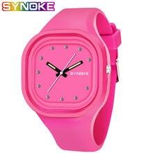 Часы наручные synoke для мальчиков и женщин цветные водонепроницаемые