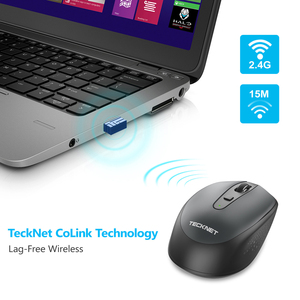 Image 5 - TeckNet Omni Mini Mouse Computer Wireless Mouse with USB Receiver 2.4GHz Chic Mice 1 Battery Adjustable 1600DPI Mice For Laptop
