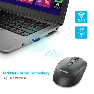 Image 5 - TeckNet Omni Mini mysz komputerowa bezprzewodowa mysz z odbiornikiem USB 2.4GHz Chic myszy 1 bateria regulowana 1600 myszy DPI na laptopa