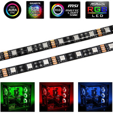 Computer-Case Control-Panel Cabinet-Tape Headers Light Pc Gamer Led-Strip Neon 4pin 12V