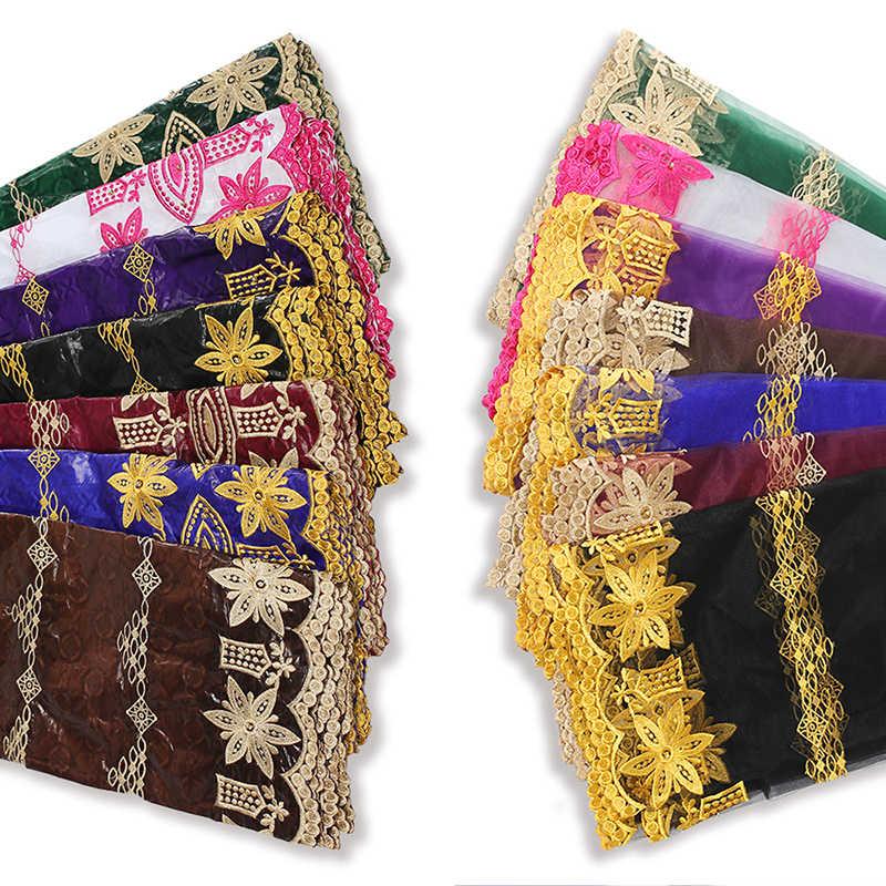 Nigeriaanse Ankara Stof Afrikaanse Vrouwen Jurk Naaien Materiaal Bazin Riche Textiel Brocade Stof 2020 Tissus Africain 5 + 2 Yards/Lot