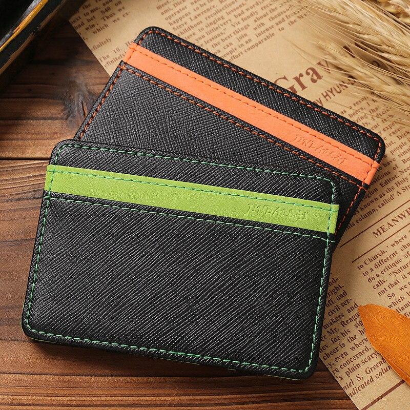 Korean Version Unisex Magic Wallet Money Clips Women Men Wallet Purse Carteira Slim Leather Wallet ID Credit Card Cases