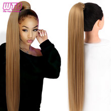 WTB-Extensión de cabello sintético para mujer, coleta superlarga y recta, con Clip, cola de caballo, 32 pulgadas