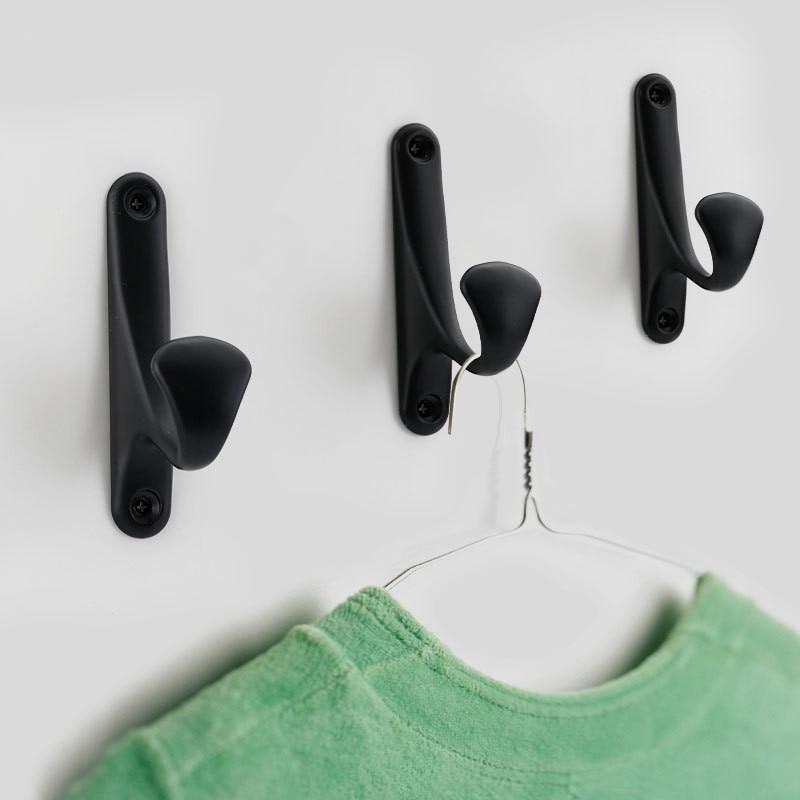 Modern Mounted Single Hook Holder Home Decoration Wall Hanger For Keys Towel Coat Storage Rack Kitchen Bath Hardware Accessories