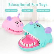 Cartoon Mouse Mouth Bite Finger Game Funny Toy Gift Parent-child Interactive Tooth Extraction Toy Table Game For Kids Gift(China)