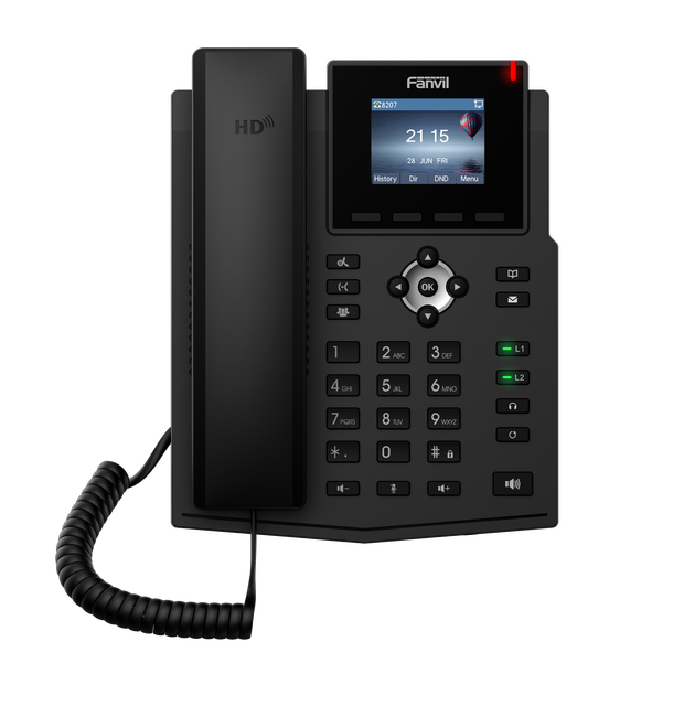 X3SP IP telefon Fanvil marka kablosuz SIP telefon desteği iki VoIP LCD ekran hesap ev iş ofis IP telefon