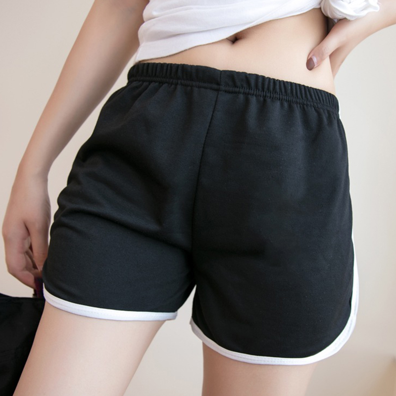 Korean Casual Sport Shorts Women Summer Fitness Slim Cotton Sexy Hip Elastic Waist Shorts For Fashion Ladies Hot Short Pants