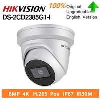 Hikvision Original DS 2CD2385G1 I 8MP IP Dome Security Camera H.265 HD CCTV POE WDR Camera Face Detect Powered by Darkfighter