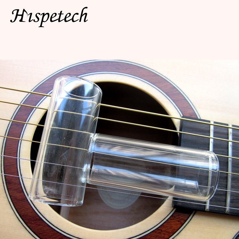 HISPETECH Musical Instrument Accessories Glass Guitar Slide Length 61MM Tube Wall Thickness 2MM Finger Slider Protect Knuckle