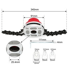 Universal Grass Trimmer Head Coil 65Mn Chain Trimmer Head for Most of Brush Cutter