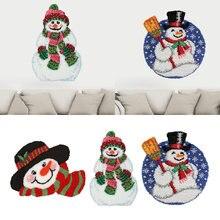 Коврик с рождественским дизайном и вышивкой набор крючков защелкой