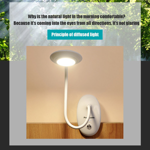 Image 5 - パナソニッククリップデスクランプledタッチスイッチ3モード目の保護デスクライト調光usb充電式ledテーブルランプ