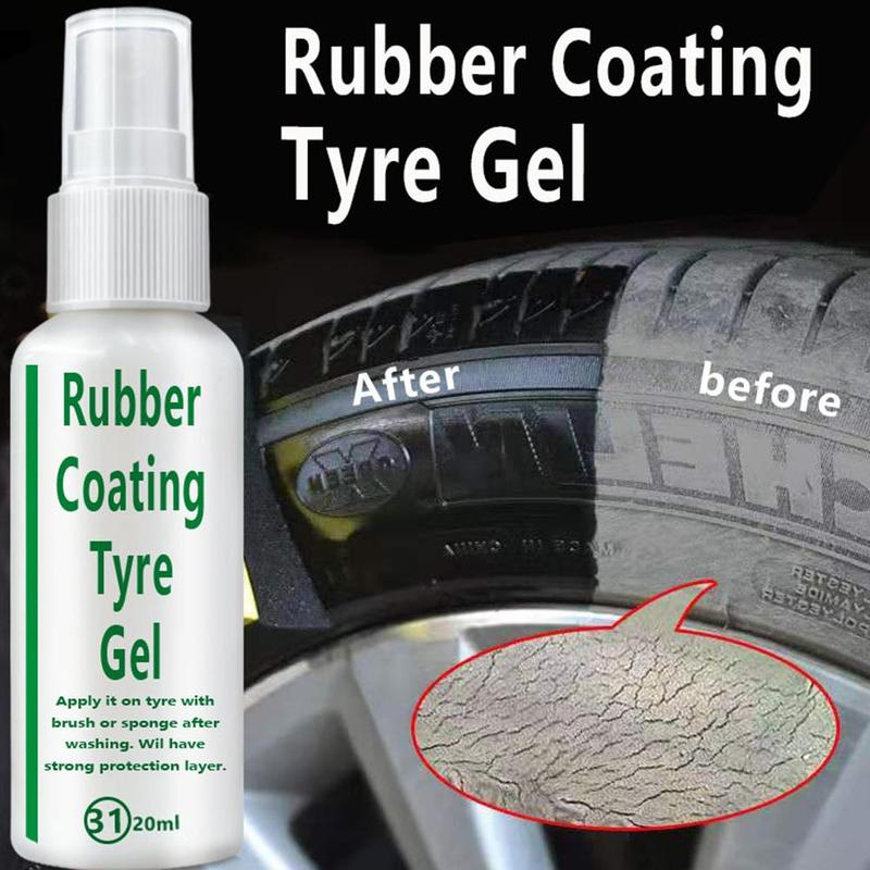 20ml Car Tire Coating Agent Brightener Decontamination Tire Protector Car Tire Wheel Cleaning Coating Tire Restoration Accessory