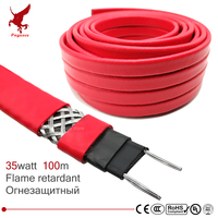 100m strengthen 220V Flame retardant heating cable 14mm Self regulat temperature Water pipe protection Roof deicing heat cable