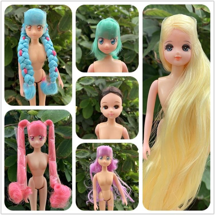 Rare Limited Edition Licca Doll Toy Head Original Cartoon Doll Head Girls Boys DIY Dressing Hair Toys Collection Cute Doll Head