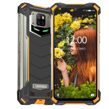 IP68/IP69K DOOGEE S88 Pro teléfono resistente 10000mAh Batería grande cambio rápido Helio P70 Octa Core 6GB RAM 128GB ROM Android 10 OS