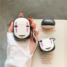 3D Cute Cartoon Spirited Away Kaonashi No Face Man Faceless Earphone Cases For Apple Airpods 1 2 Silicone Protection Cover Funda