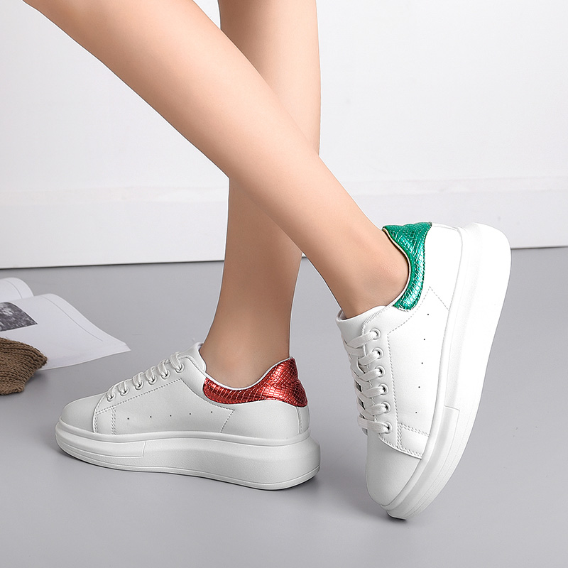 Malemonkey 831881 HOT Women Sneakers Spring Autumn Fashion Breathble Shoes Leather Platform Lace Up Woman Casual Shoes White