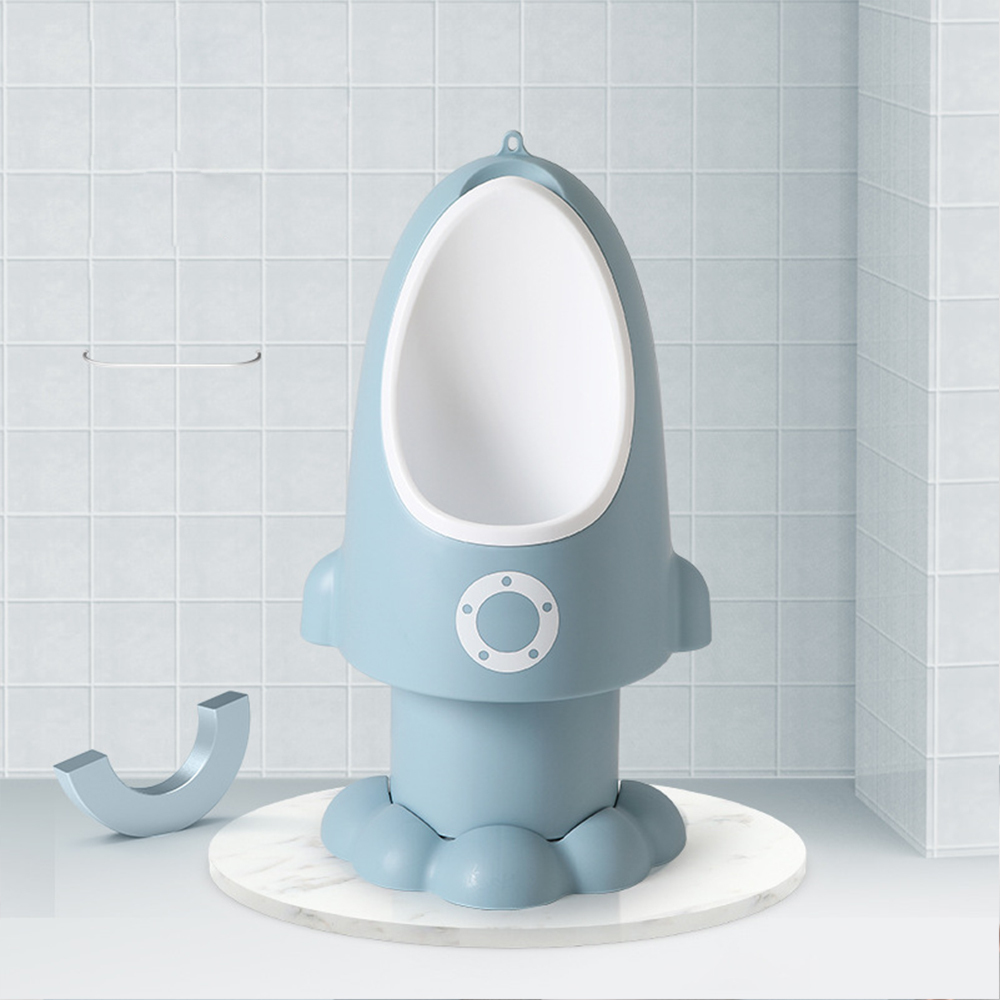 3 Color Baby Urinal Rocket Shape Vertical Wall-Mounted Pee Convenient Cute Boy's Potty Urinal Standing Toilet Boy Urinal