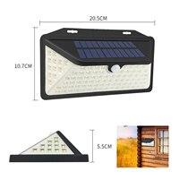 LED 3 modalità di illuminazione sicurezza sensore di movimento impermeabile illuminazione esterna a Led alimentata a batteria solare luci da giardino solari