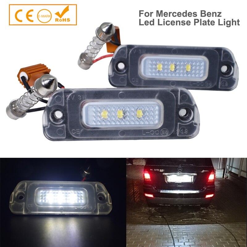 2 шт. автомобиля светодиодный номерной знак светильник нет ошибок для Mercedes Benz W163 W164 X164 W251 V251 мл 280 320 420 GL 350 500 550 AMG