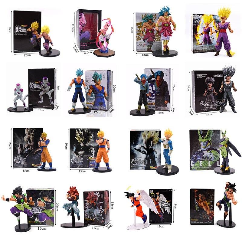 11-23CM Bola de Dragón Z Super Goku Son Gohan Broly Vegeta célula Frieza Buu Broli bañadores bardock PVC figuras de acción juguetes coleccionables