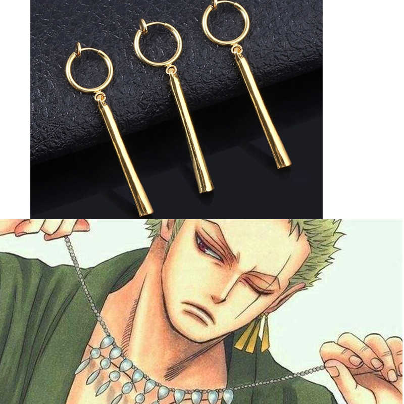 3 Pieces/set Anime Fans Pirate Hunter Roronoa Zoro Cosplay Earrings Accessories Jewelry Ear Drop Dangle Earrings For Men