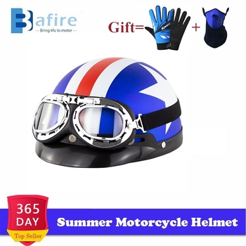 Summer Motorcycle Helmet Unisex Free Size Up Racing Anti-UV Head Safety Protector Motocross Scooter Open Face