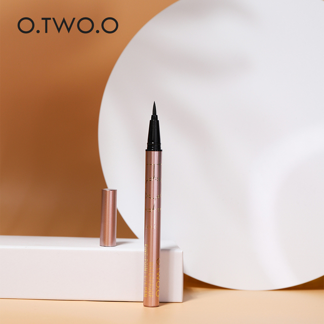 O.TWO.O 24 Hours Lasting Eyeliner Liquid Black Color Waterproof Eye Liner Pencil Smudge-Proof Cosmetic 5
