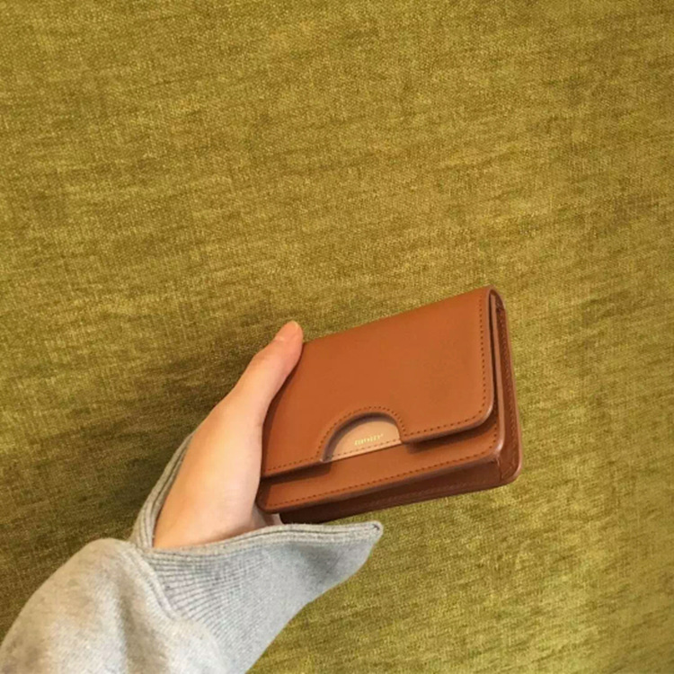 New Style South Korea Ulzzang Contrast Color Retro Purse Package Cover Type Short Hipster Students Joint Wallet