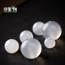1pcs Pick Size 6/8/10/12/14mm Natural Gem Round White Opal Agates Druzy Beads Charms Handmade Bracelet DIY Jewelry Making 2012(China)