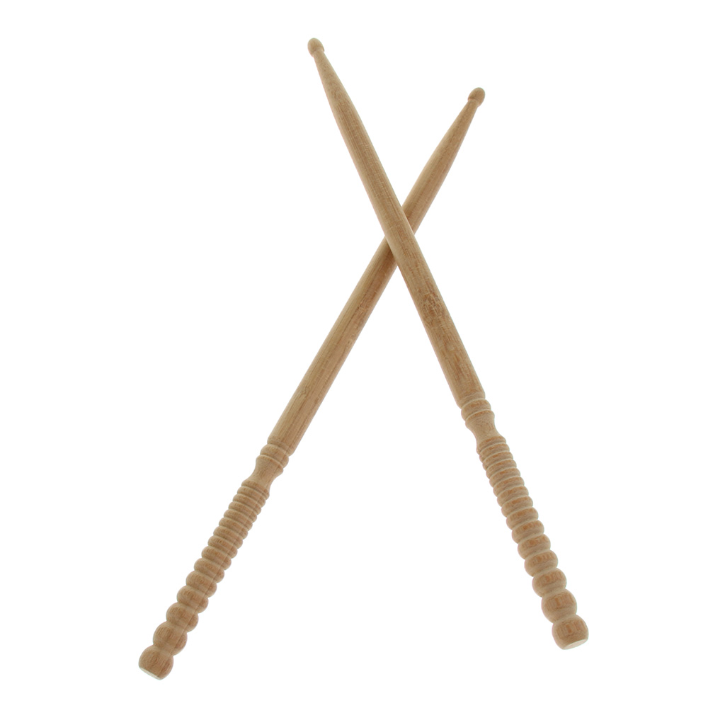 Pack/2pcs Exquisite Bamboo 5A Drum Sticks Beaters Rods For Snare Drum Accessory Wood