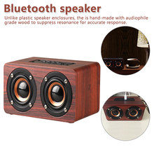 Bluetooth Speaker Wooden Wireless Portable HiFi Shock Bass Speaker Boombox Buetoot for iPhone for Samsung for Xiaomi(China)