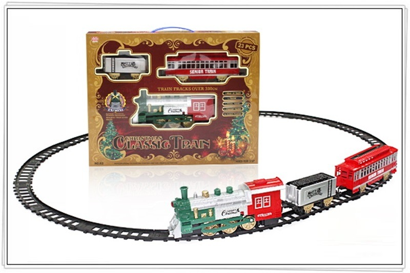 Children Electric Smoke Classical Rail Train Model Classical Steam Train Camera Track Car Christmas Birthday Gift